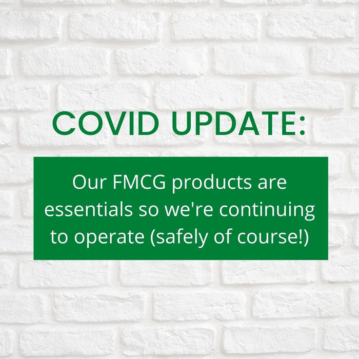 Our FMCG products are essentials so we're still operational