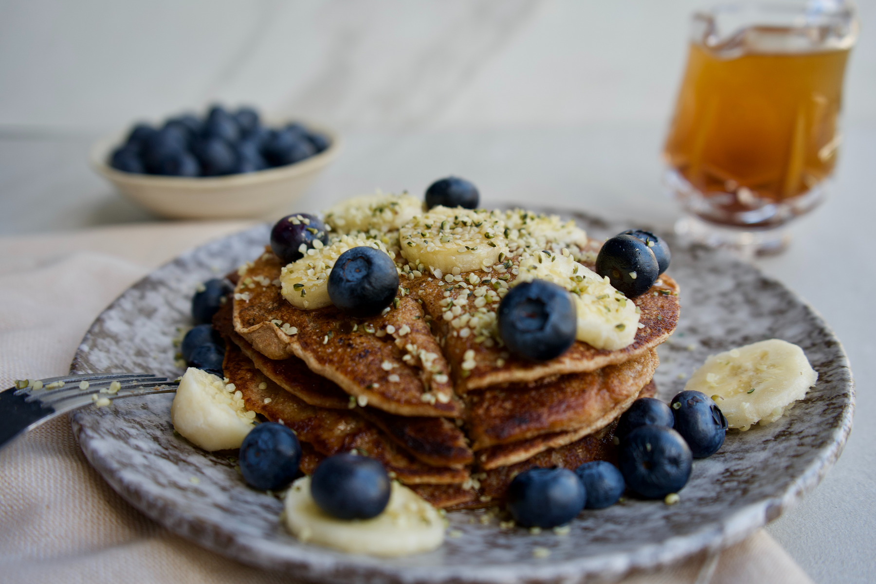 Plant based pancakes don't have to be plain!