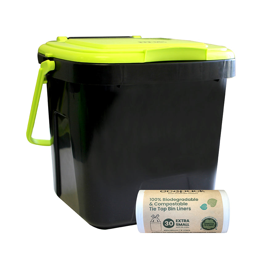 SKU-08 Compost Starter Set - 7L Caddy & Liners