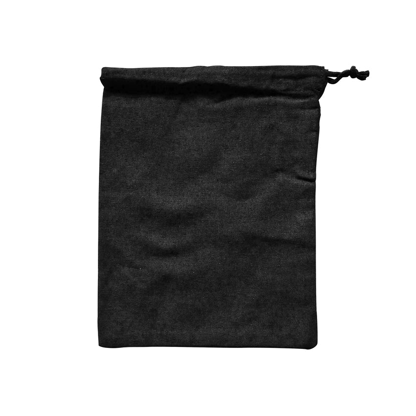 EC-15B Black Calico Drawstring Bag (Medium)