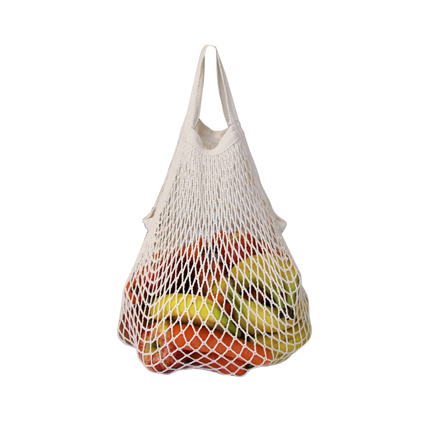 EC-31 Fairtrade & Organic Cotton String Bag with Short Handle