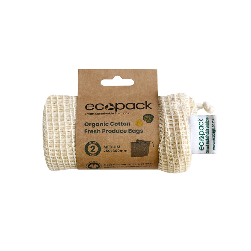 EC-33 Organic Cotton String Bags - Set of 2 (Medium)