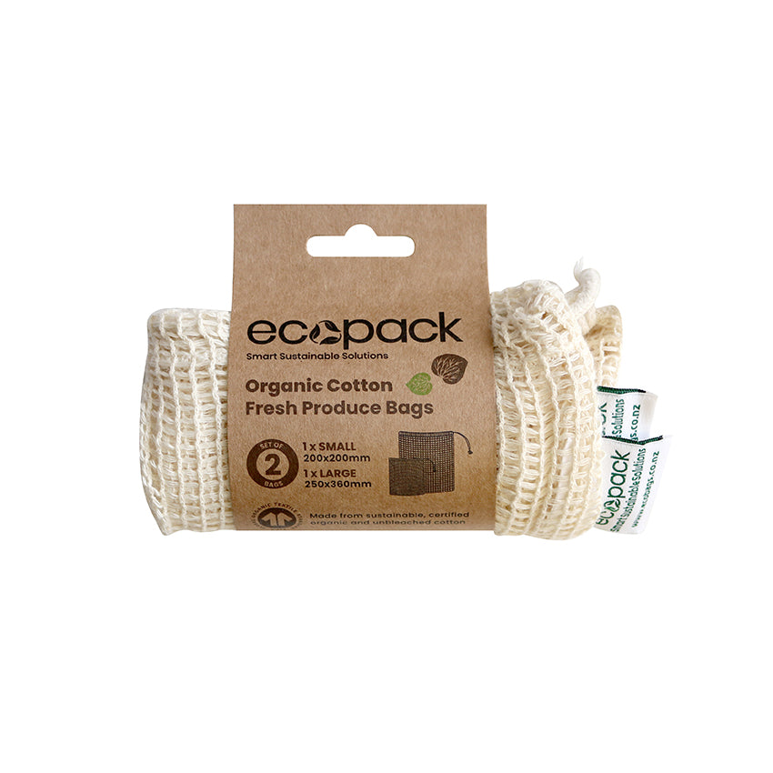 EC-37 Organic Cotton String Bags - Set of 2 (Sml & Lrg)