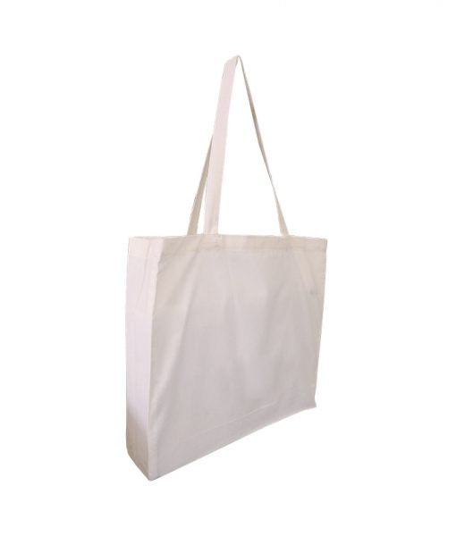 EC-04 Natural Calico Tote Bag with Gusset
