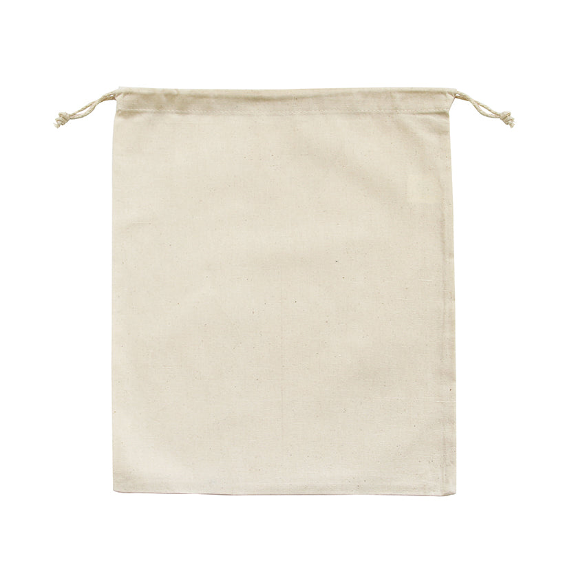 EC-06 Natural Calico Drawstring Bag (Large)