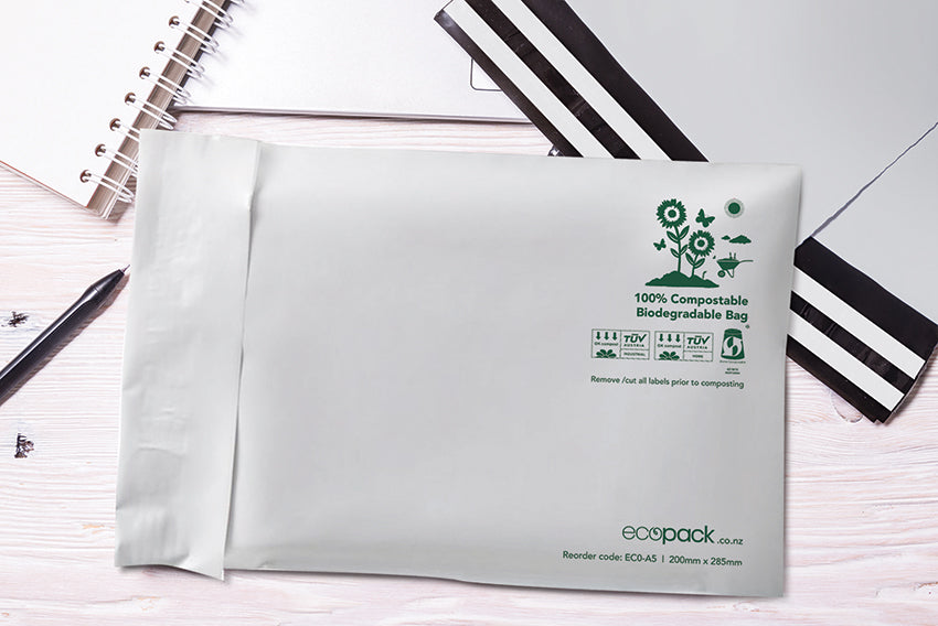 ECO-A5 Compostable Resealable Courier Bags - Set of 25
