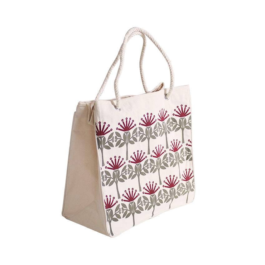 ECV-09P Designer Reusable Shopping Bag - Kiwiana Pohutukawa