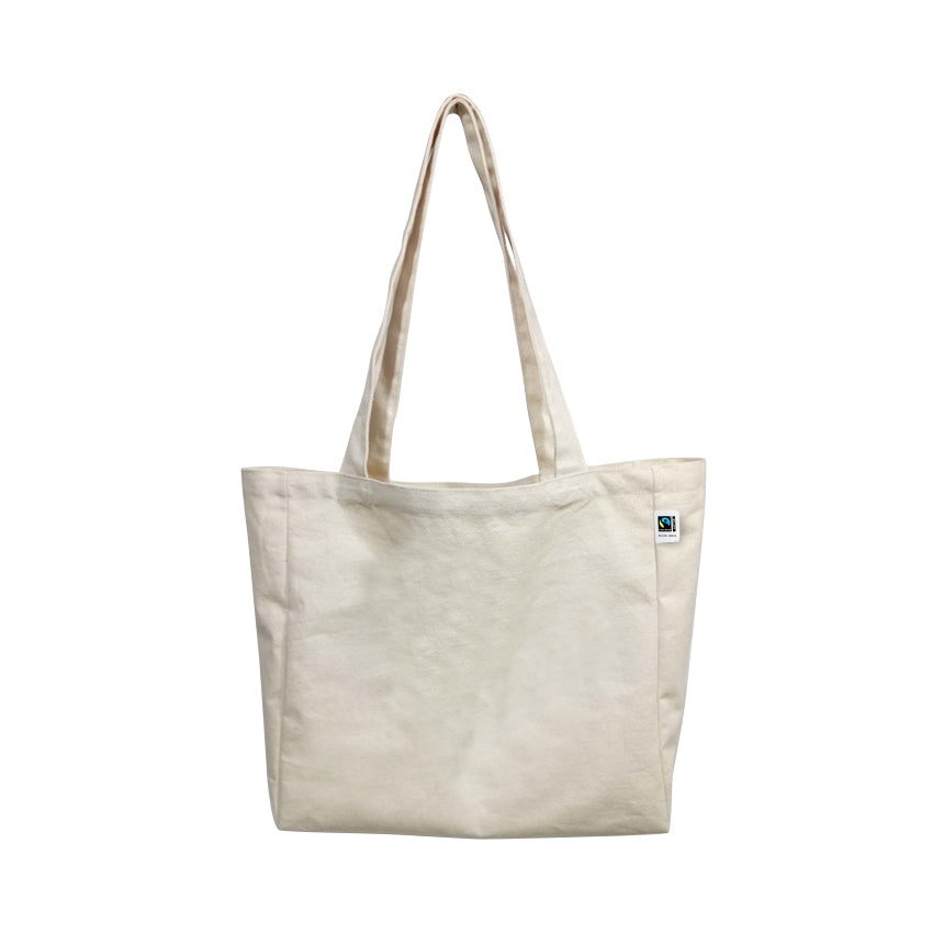 ECV-18OF Fairtrade Organic Canvas Natural Tote Bag with Extra Capacity
