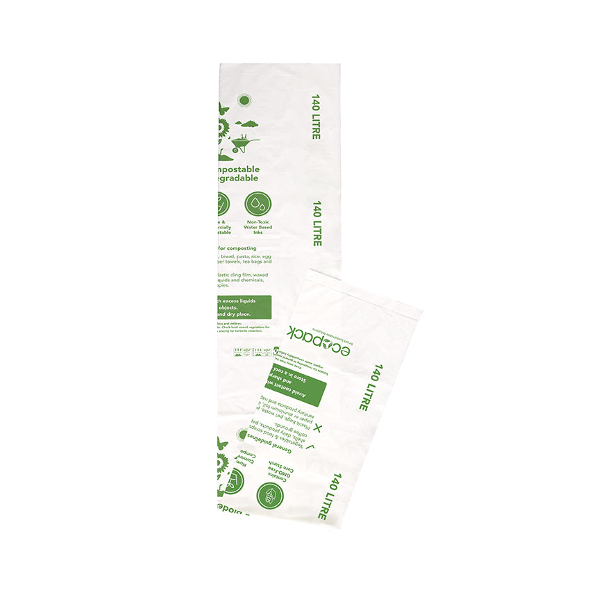 ED-2114 Compostable/Biodegradable Wheelie Bin Liners 140L
