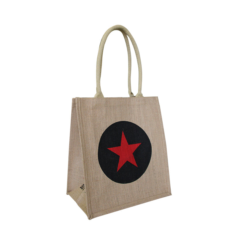 EJ-209 Natural Jute Reusable Grocery Bag