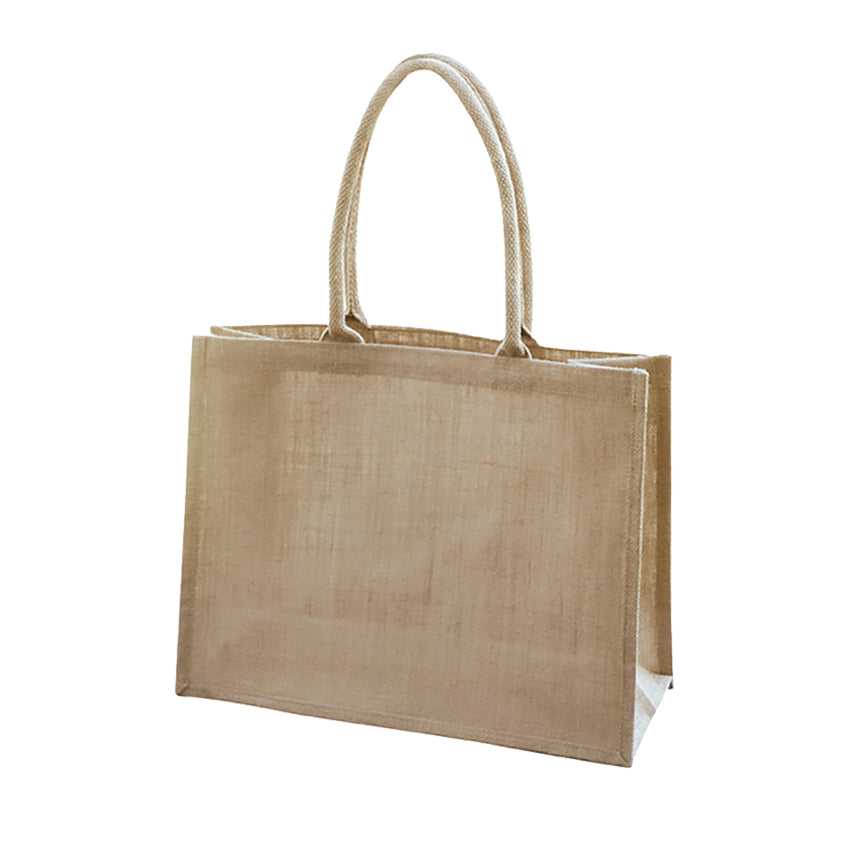 EJ-203 Unlined Natural Jute Shopping Bag