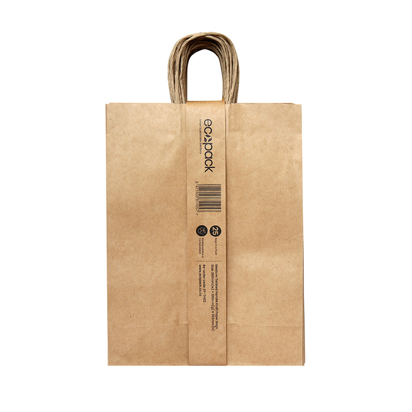 EP-TH02 Medium Twisted Handle Paper Bags - Set of 25