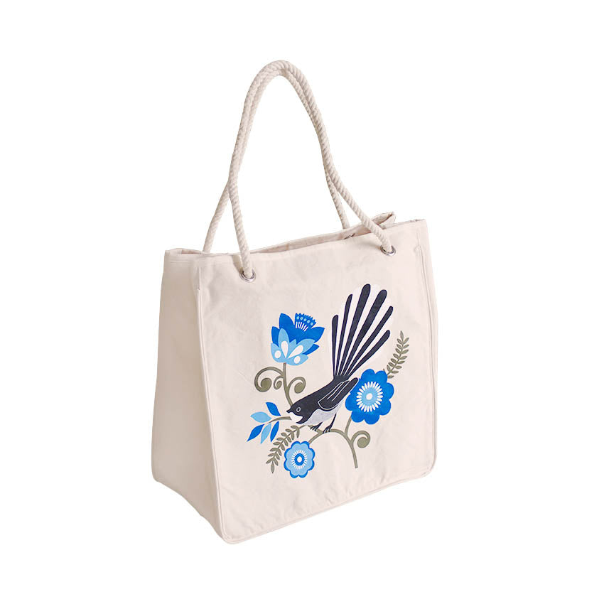 ECV-09F Designer Reusable Shopping Bag - Kiwiana Fantail