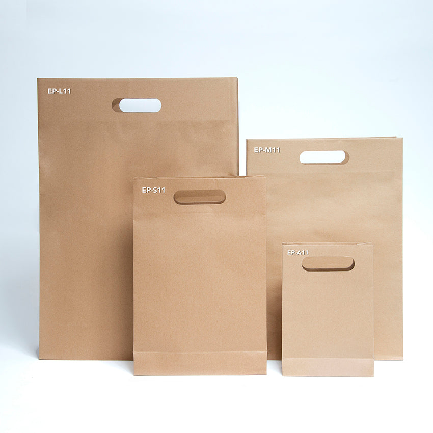 EP-M11 Medium Punched Out Handle Paper Bags - Set of 25