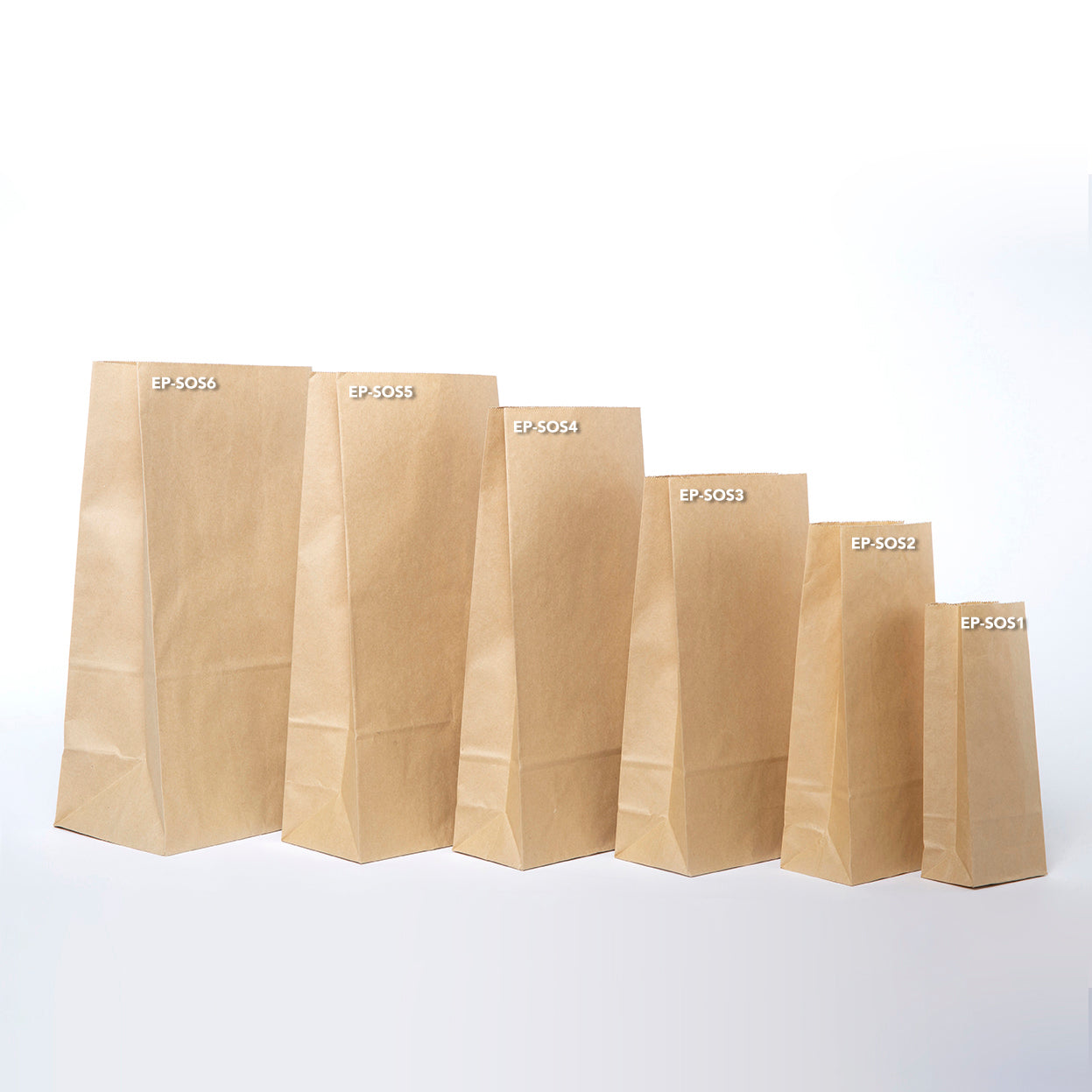 EP-SOS1 XXS Lightweight Paper Bags - Set of 50
