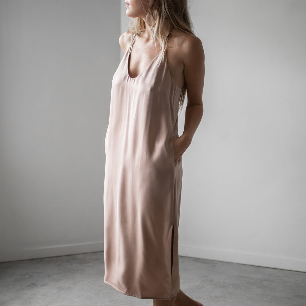 Washable Silk Slip Dress