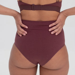 High Waisted Brief - GOTS Certified Organic Cotton (NEW COLLECTION)