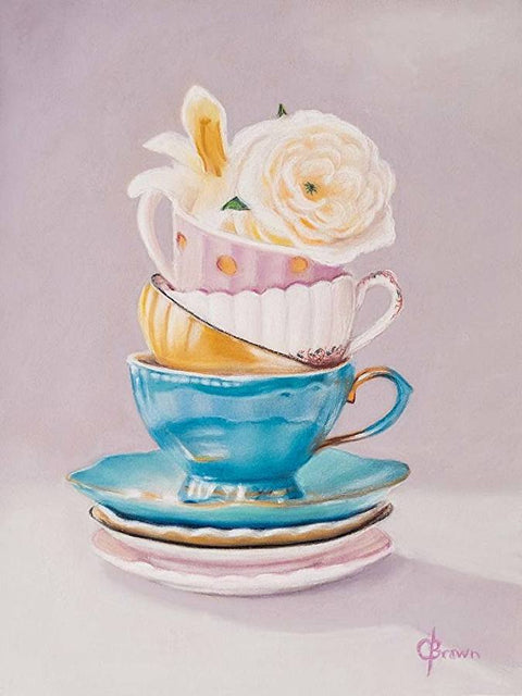 Afternoon Tea - Pastel - 12 x 9