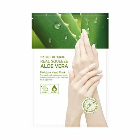 NATURE REPUBLIC Real Squeeze Aloevera Moisture Hand Mask