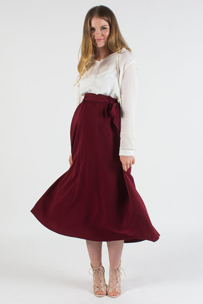 Autumn Bow Maternity Skirt