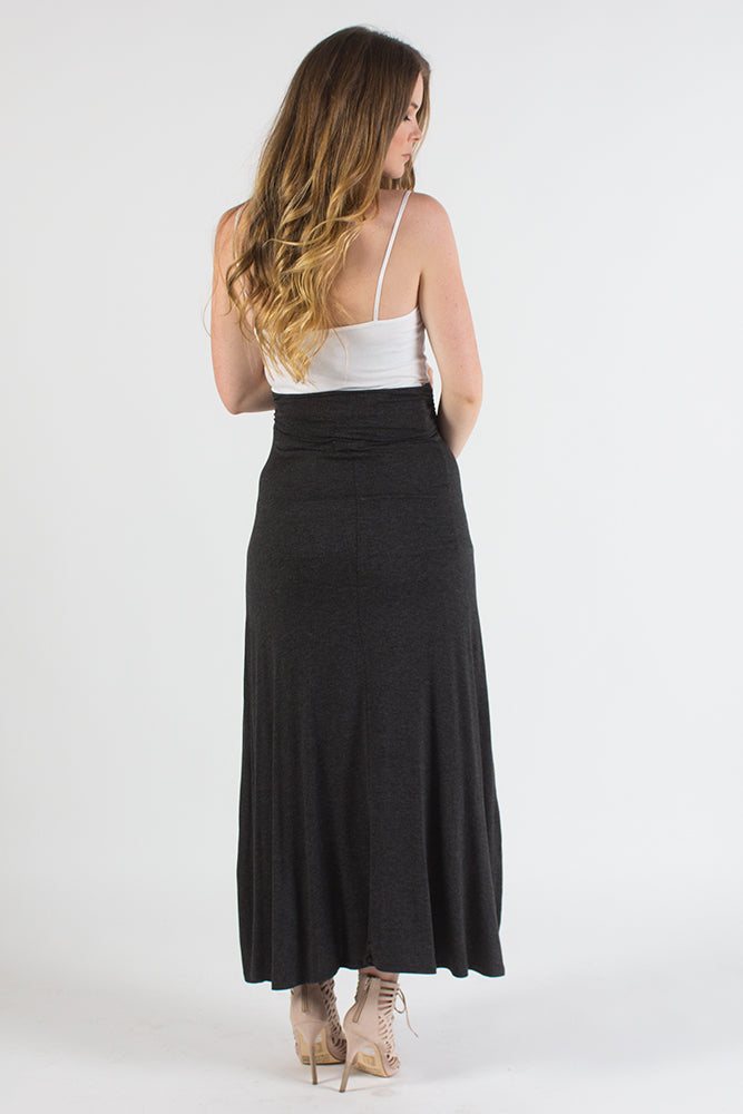 Charcoal Maternity Maxi Skirt