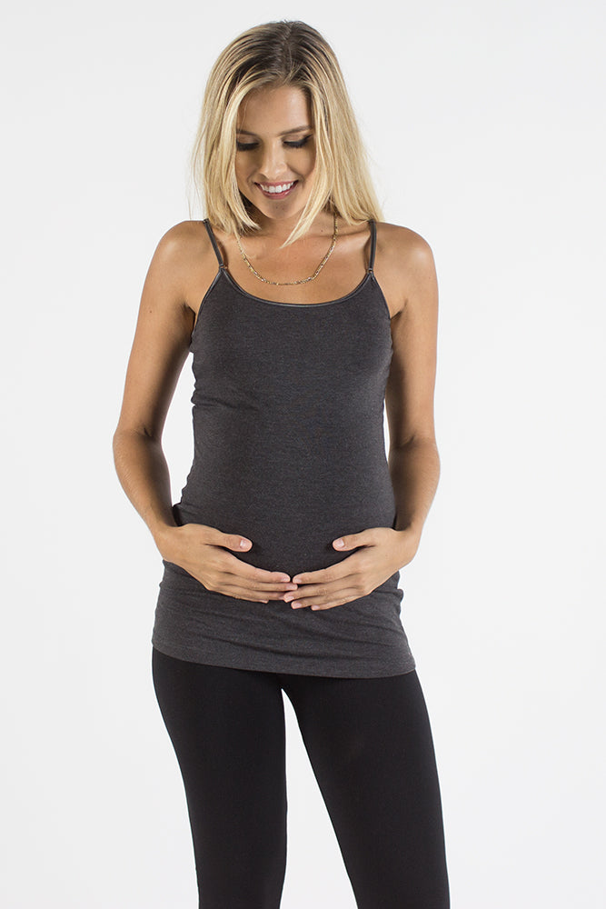 Charcoal Maternity Cami