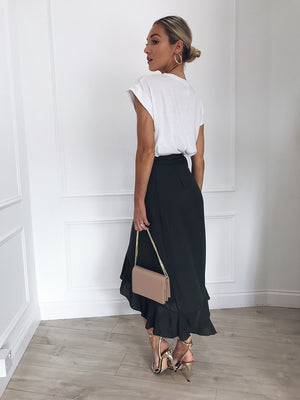 Aysmmetric Wrap Skirt