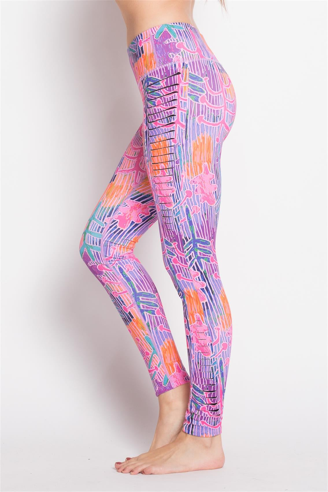 Side Cutout Color Leggings