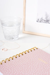 Spiral Mini Notebook - Pink Confetti