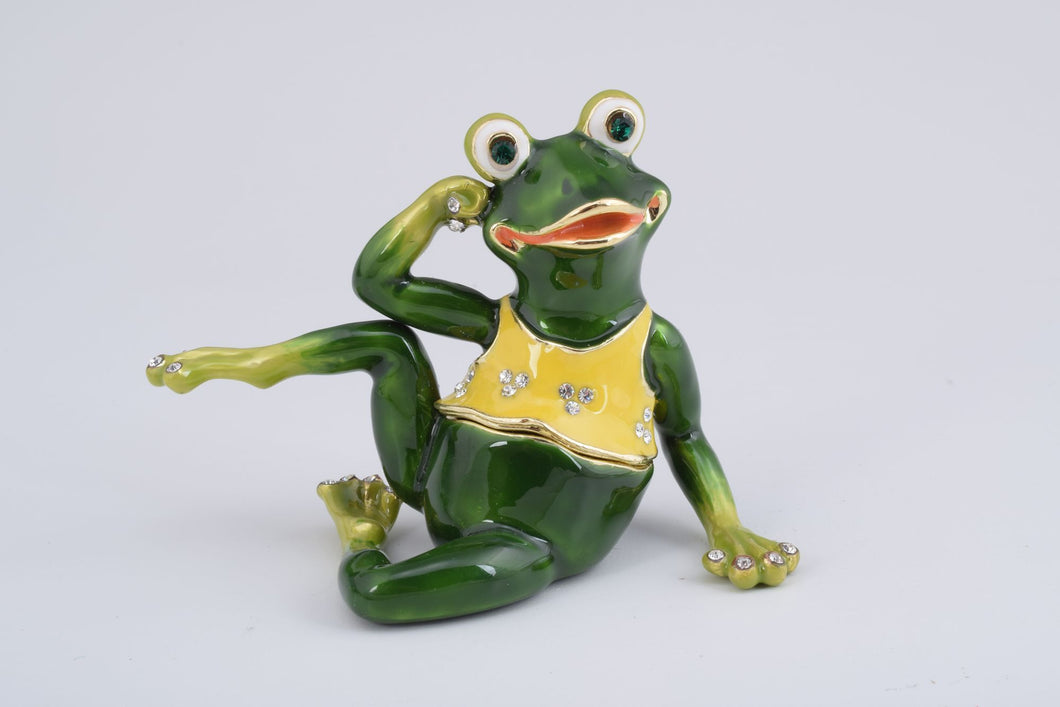 Gymnastic Frog with a Yellow Shirt