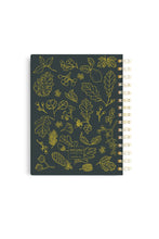 Spiral Golden Foil Notebook - Woods