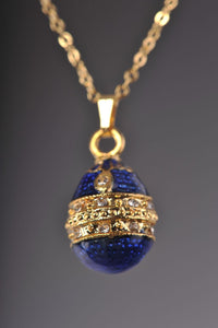 Blue Egg Pendant Necklace