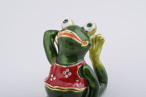 Gymnastic Frog with a Red Shirt
