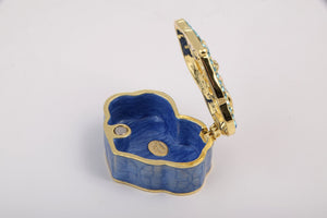 Golden Blue Box Decorated with a Butterfly