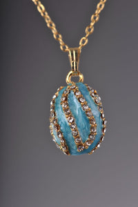 Turquoise Spiral Pendant Necklace