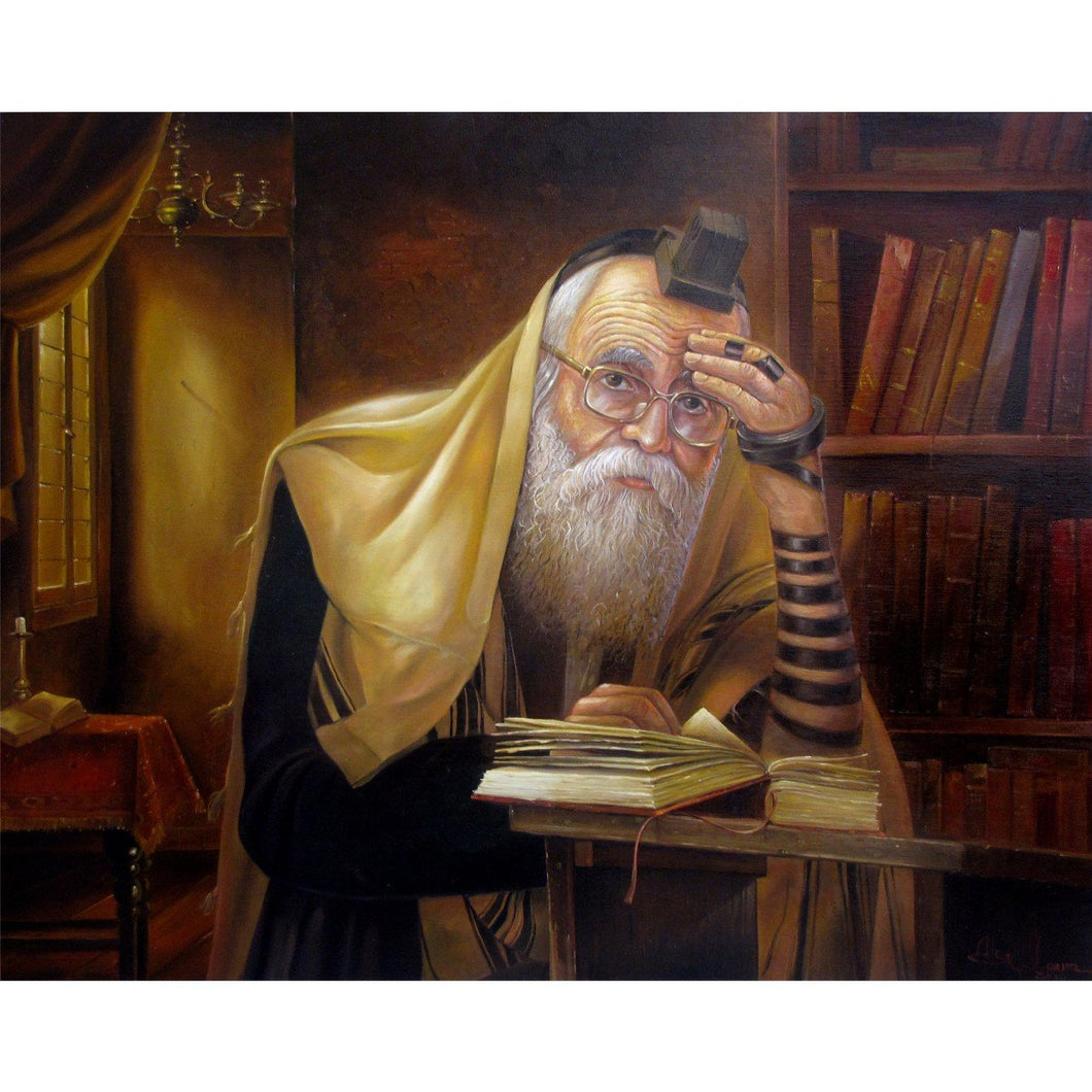 Rabbi Praying by Alex Levin