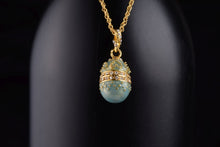 Teal Egg Pendant Necklace