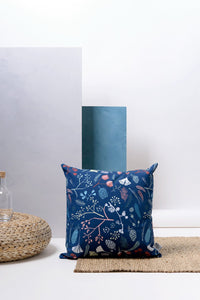 Decorative Pillow -  Navy Pine Cone