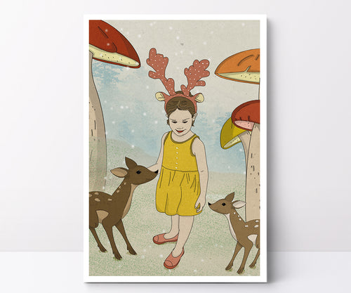 Illustrated poster OH deer