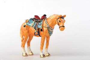 Decorated Orange Horse