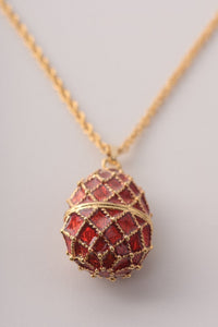 Red Egg Pendant Necklace