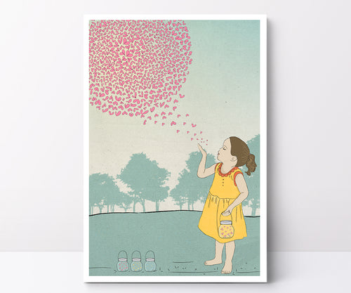 Illustrated poster fireflies