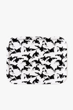 Birch Tray - Black and White Orcas Pattern