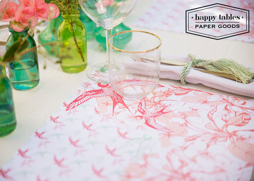 Paper Placemat Happy Tables Swallow Bird