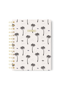 Spiral Notebook - Palm Trees Pattern
