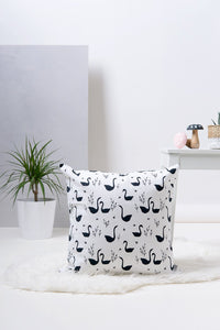Decorative Pillow - Swans Pattern