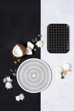 Birch Tray - Black and White African Mud Cloth Pattern