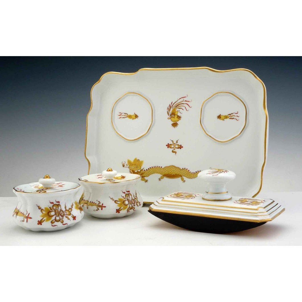 A Meissen Porcelain Desk Set