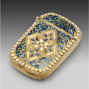 Astonishing gilt and enameled vesta box