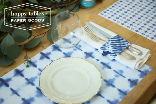 Paper Placemat Happy Tables Shibori Pluses